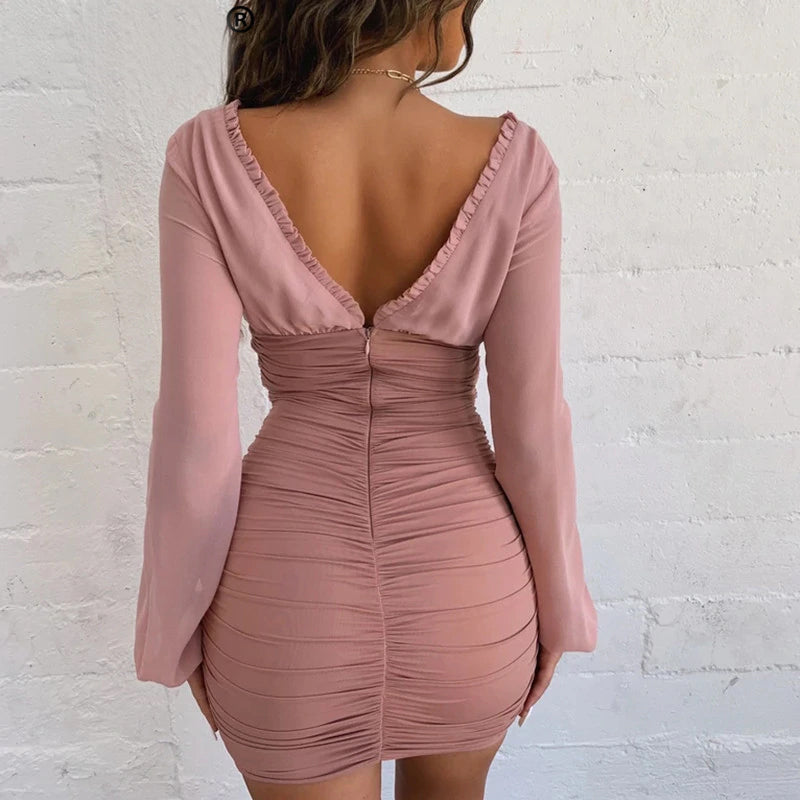 Caty's Ruched Mini Dress