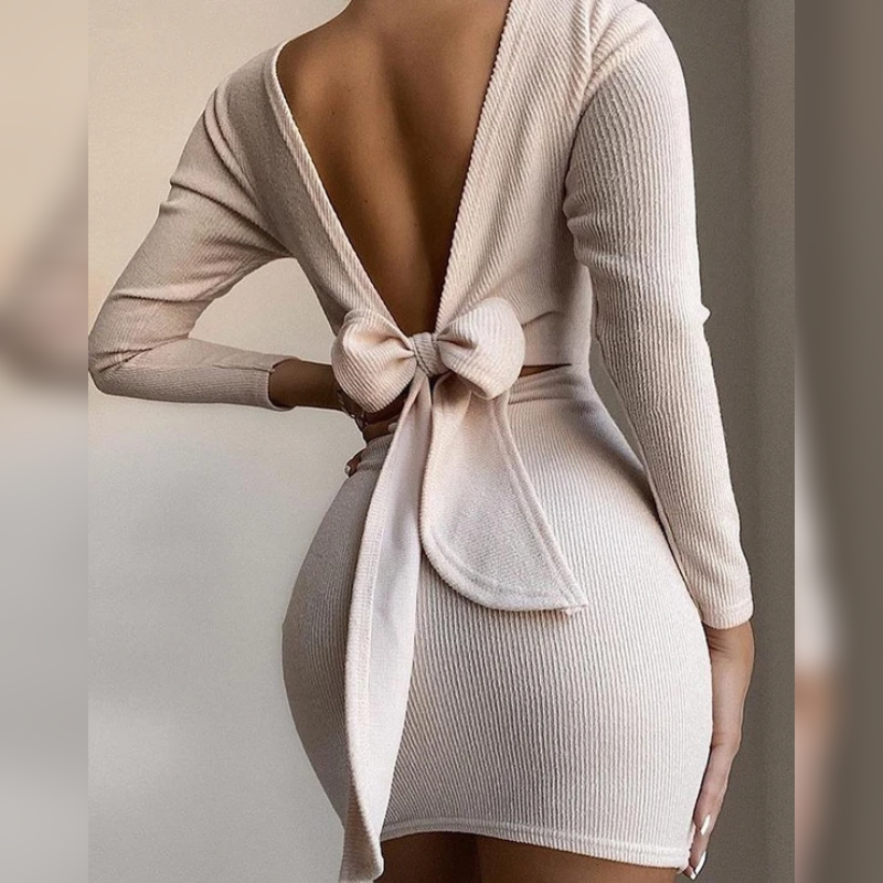 Ginger's Knotted Bodycon Dress