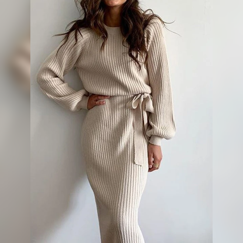Nina's Knitted Sweater Dress