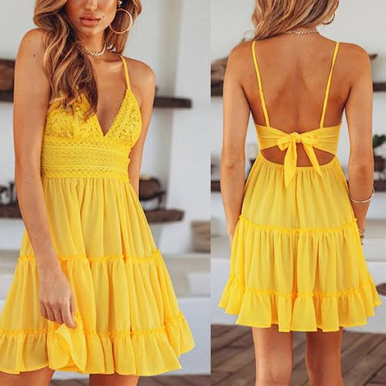 Peach Flutter Dress