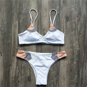 Push Up Patchwork Bikini