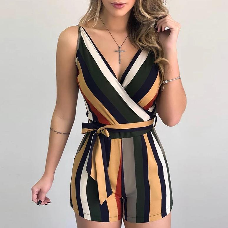 Chloe's Striped Romper