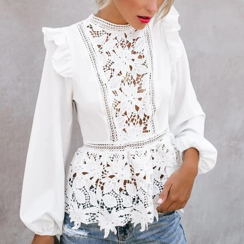 Mina's Lace Floral Top