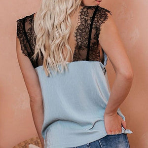 Ursula's Sleeveless Lace Top