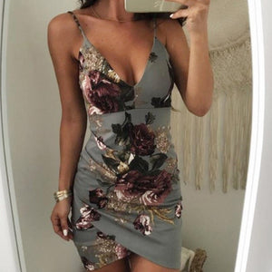 Floral Party Body-Contour Dress
