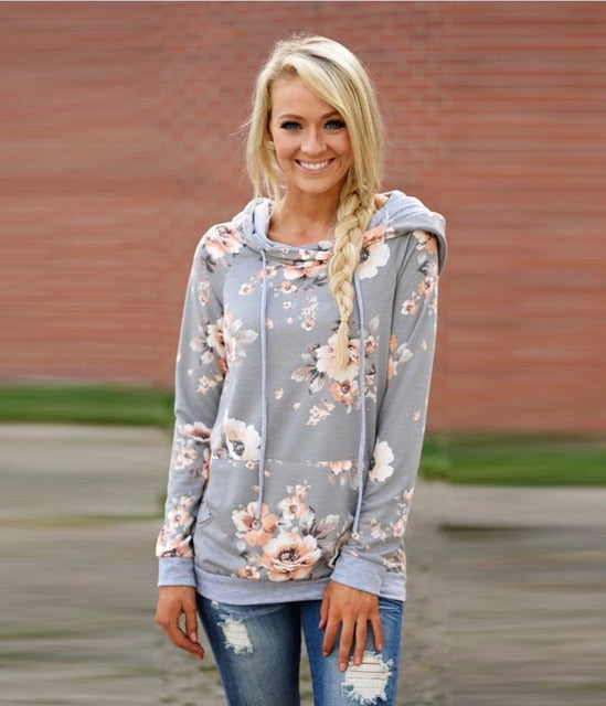 Gray Floral Jumper
