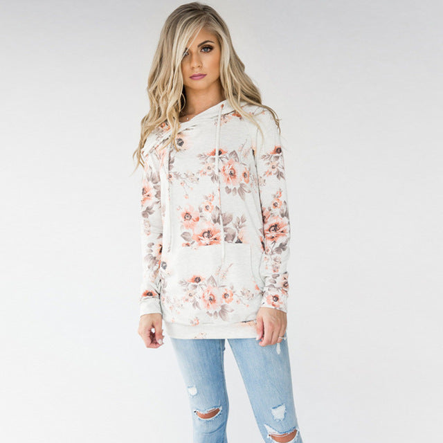 Mary'w Floral Hoodie