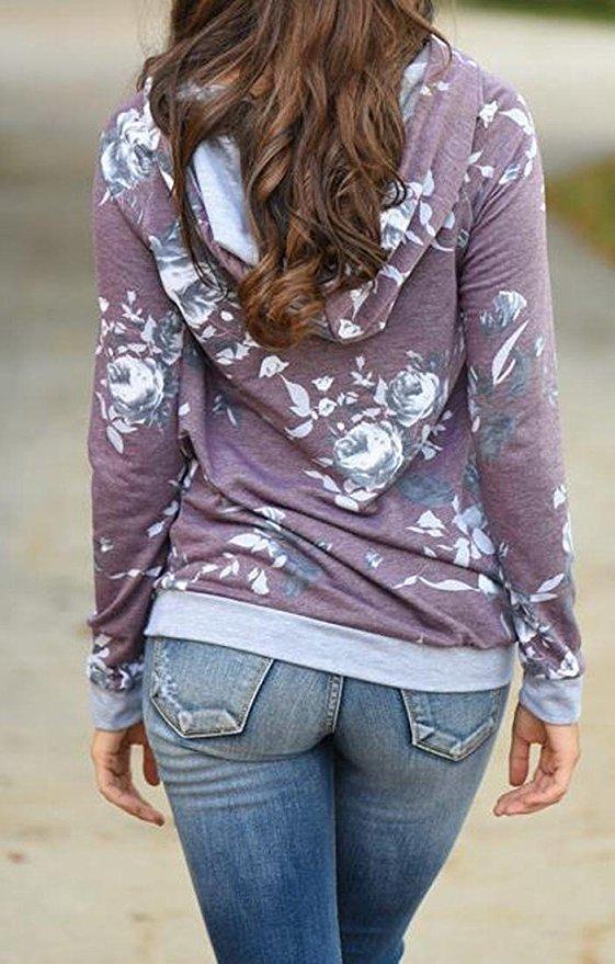 Casual Floral Sweater