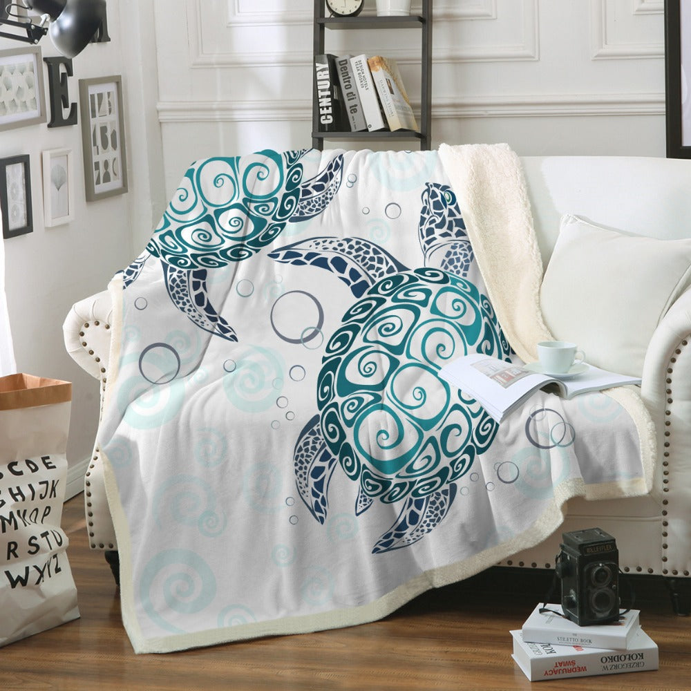 Sea Turtles Boho Blanket