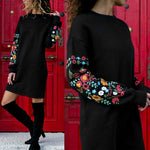Warm Winter Floral Dress