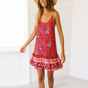 Flora's Ruffled Boho Sundress