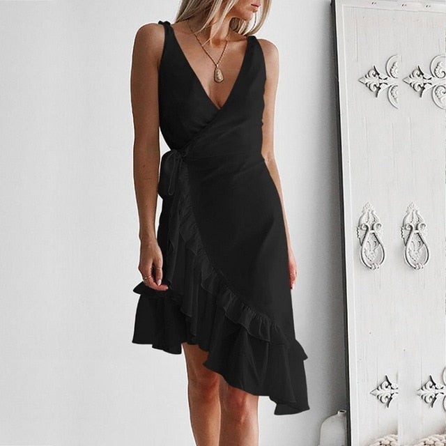 Elegant Ruffled Sundress