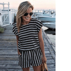 Jane's Striped Romper