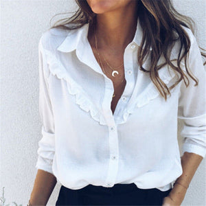 Carmina's Ruffled Casual Blouse