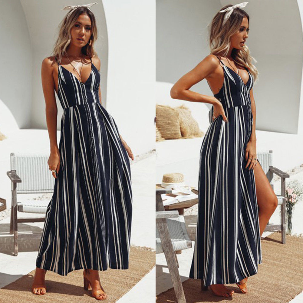Stripes Boho Dress