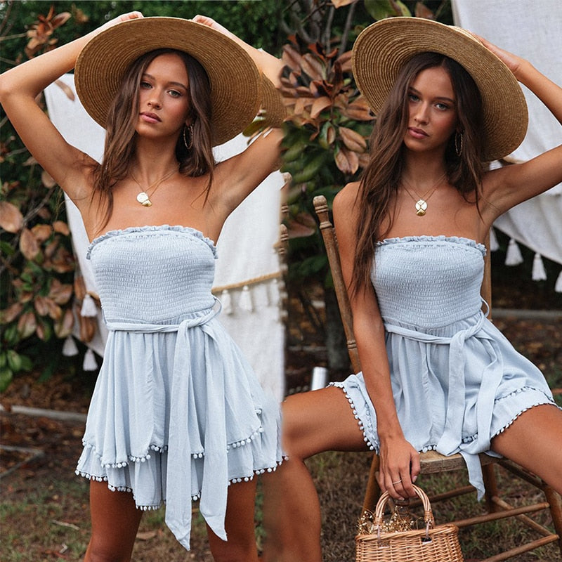 Ruffles Strapless Dress