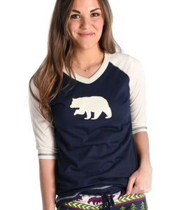 Bear Fair Isle Women's Tall Tee