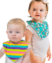 Load image into Gallery viewer, Unicorn 2 Pack Infant Bandana Bib
