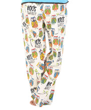 Load image into Gallery viewer, Hoo's Awake Women's Regular Fit Owl PJ Pant