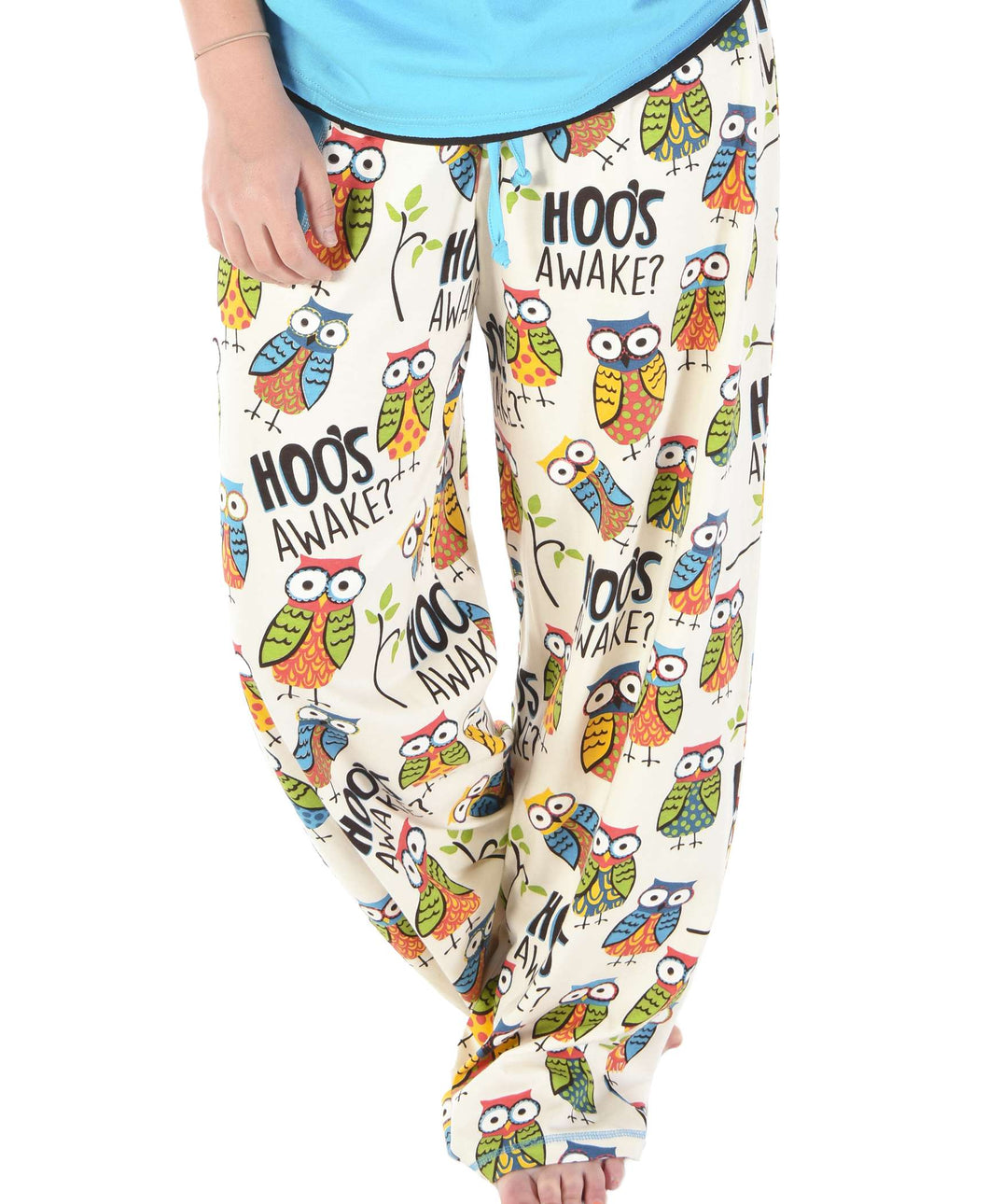 Hoo's Awake Women's Regular Fit Owl PJ Pant