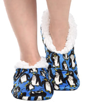 Load image into Gallery viewer, Penguin Fuzzy Feet Slipper