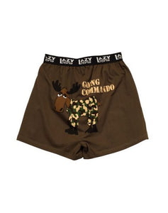 Going Commando Moose Men's Comical Boxer