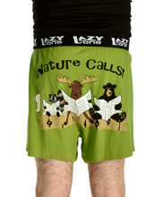 Load image into Gallery viewer, Nature Calls Men's Comical Boxers