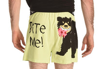 Load image into Gallery viewer, Lazy One - Bite Me Blk Bear - Boxers