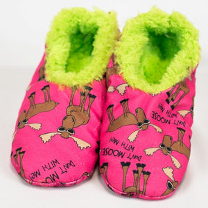 Lazy One - Don't Moose With Me - Fuzzy Feet Slipper