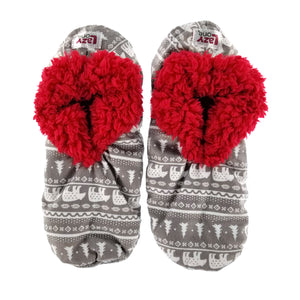 Nordic Bear Fuzzy Feet Slipper