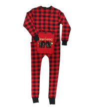 Load image into Gallery viewer, Bear Cheeks Adult Plaid Onesie Flapjack