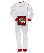 Load image into Gallery viewer, Grey Bear Cheeks Adult Onesie Flapjack