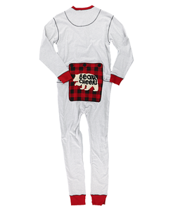 Grey Bear Cheeks Adult Onesie Flapjack