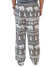 Load image into Gallery viewer, Nordic Bear Men's Fleece PJ Pants