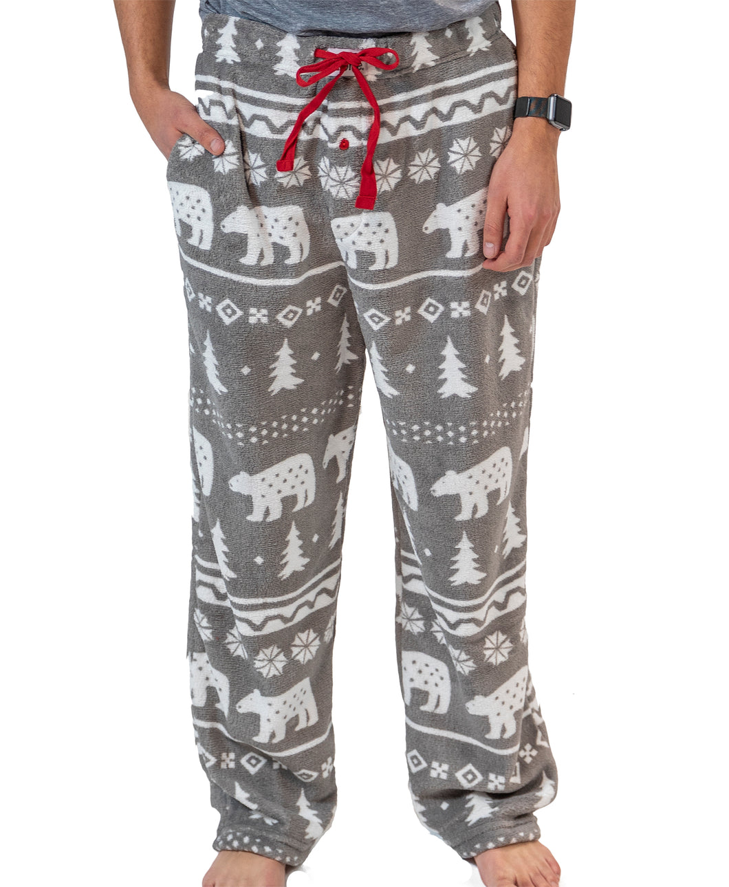 Nordic Bear Men's Fleece PJ Pants