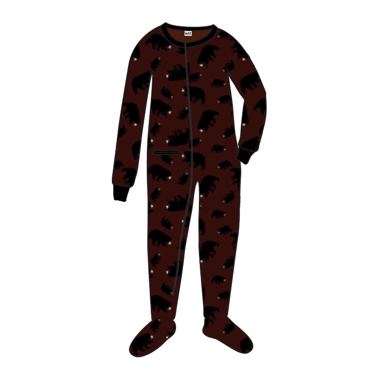 Lazy One - Timberland Bear - Brown Kids Footed Pj