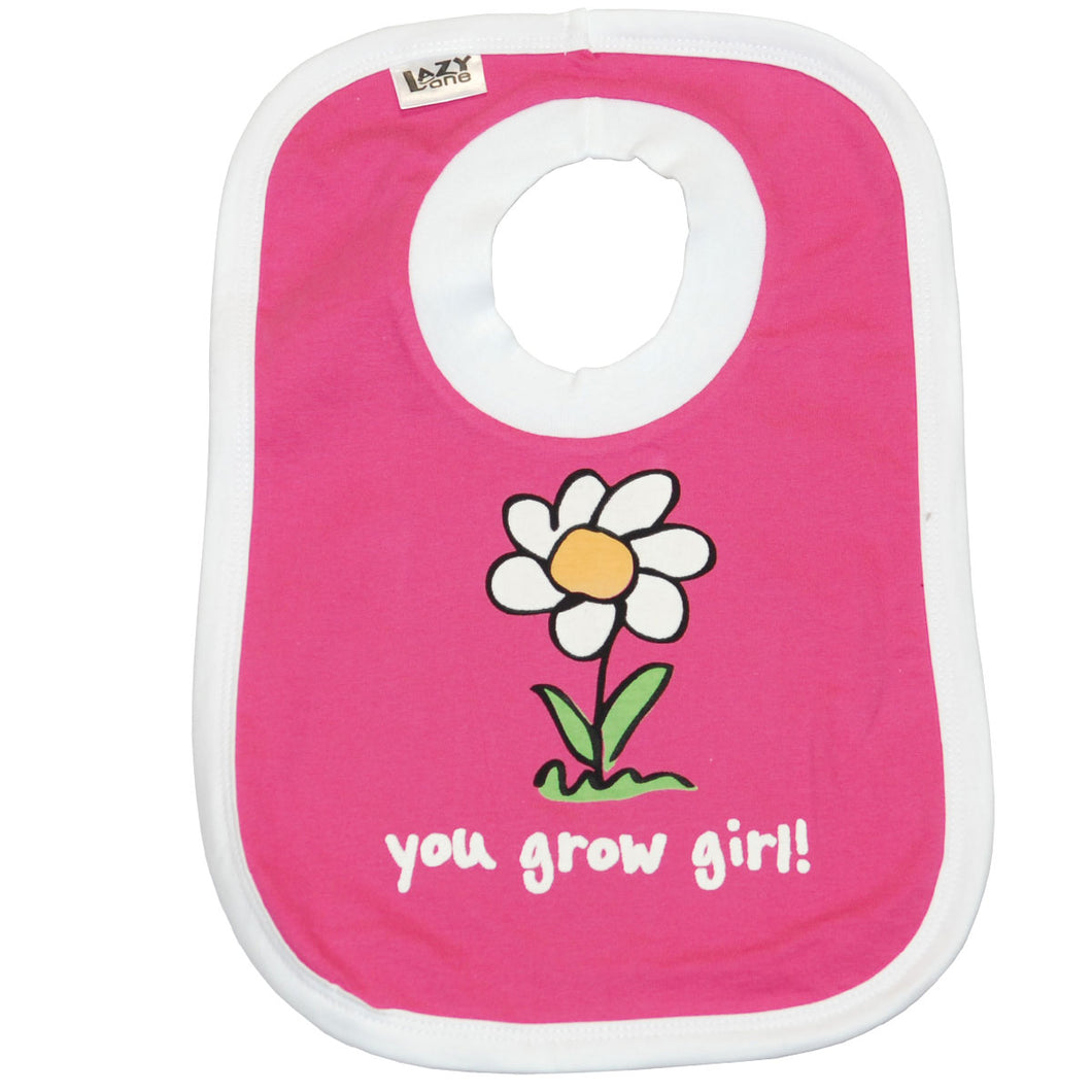 Lazy One - You Grow Girl - Infant Bib