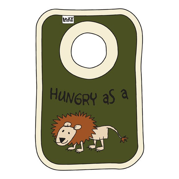 Lazy One - Hungry As A Lion - Infant Bib