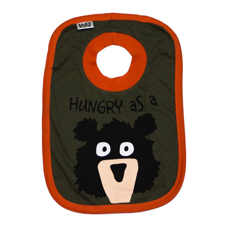 Lazy One - Hungry As A Bear Green - Infant Bibs