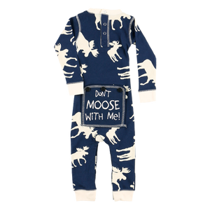 Classic Moose Infant Blue Onesie Flapjack