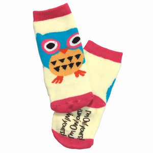Owl Yours Pink Infant Sock