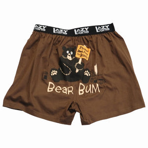 Lazy One - Bear Bum ( Brown Bear ) - Kids Boxers