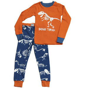 Lazy One - Dino Bone Tired - Kids Pj Set
