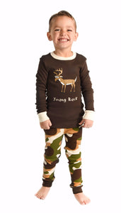 Lazy One - Young Buck Brown - Kids Pj Set