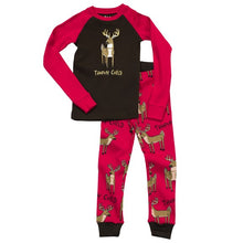 Load image into Gallery viewer, Lazy One - Trophy Family - Pink Kids Pj Set