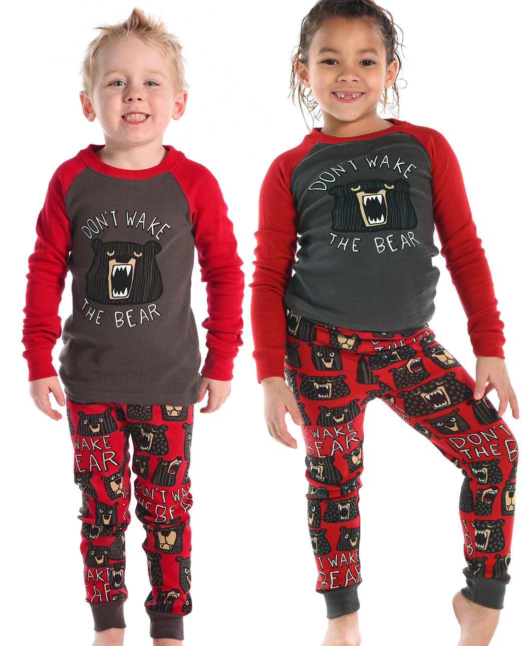 Don't Wake Bear Kid's Long Sleeve PJ's