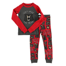 Load image into Gallery viewer, Don't Wake Bear Kid's Long Sleeve PJ's