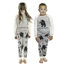 Load image into Gallery viewer, Call of the Wild Bear Kid's Long Sleeve Bear PJ's