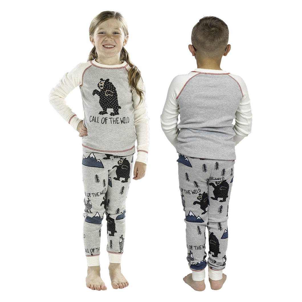 Call of the Wild Bear Kid's Long Sleeve Bear PJ's