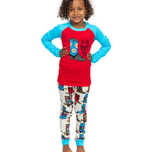 Load image into Gallery viewer, Lazy One- If The Boot Fits Kids Pj Sets